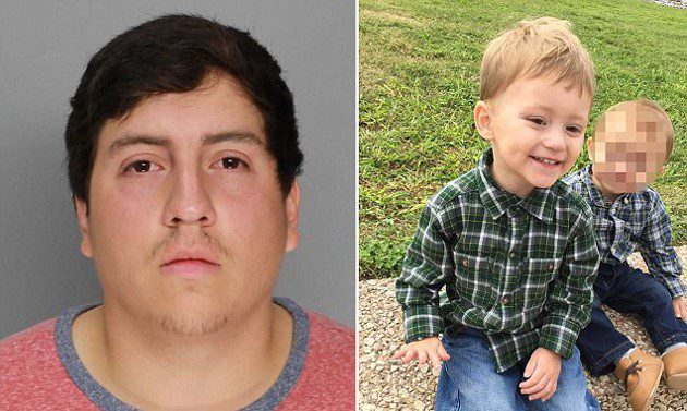 Dad arrested after toddler son fatally shot himself in the face