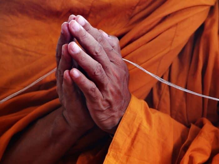 buddhist monk hands
